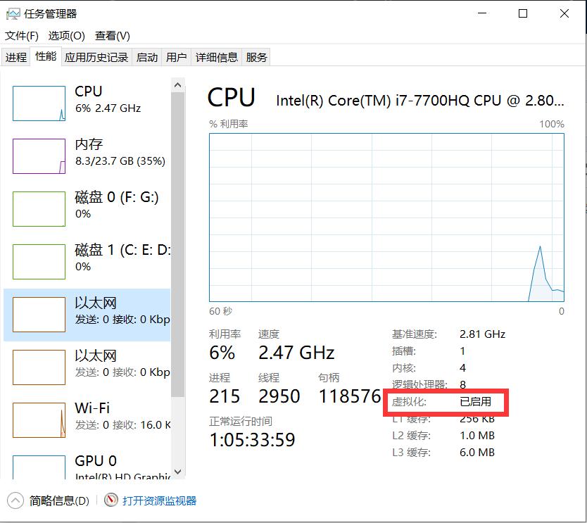 cpu虚拟化查看